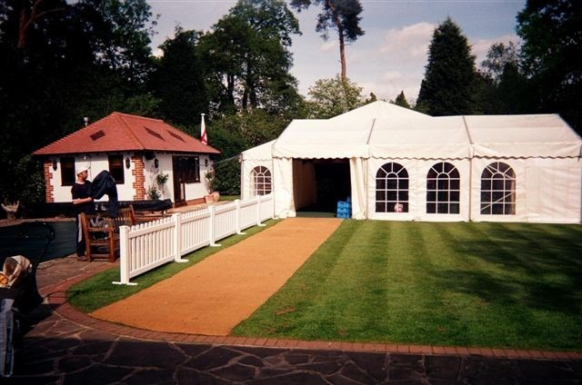 Frame Marquee with Picket Fencing Entrance